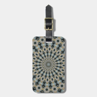 Camel and Teal Kaleidoscope Luggage Tag