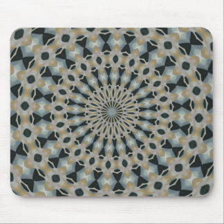 Camel and Teal Kaleidoscope Mouse Pad
