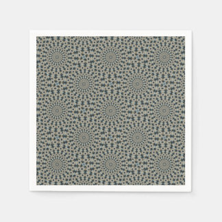 Camel and Teal Kaleidoscope Paper Napkin