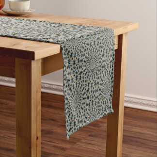 Camel and Teal Kaleidoscope Short Table Runner