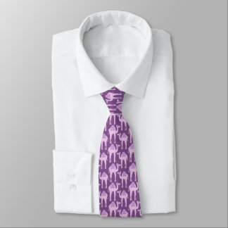 Camel animal pattern purple graphic tie