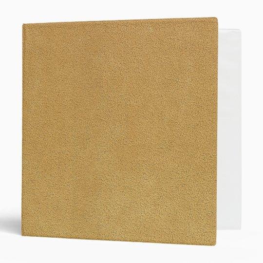 Camel Brown Ultrasuede Look Vinyl Binder