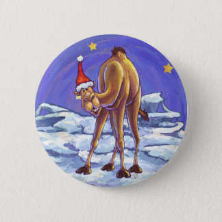 Camel Christmas 2 Inch Round Button