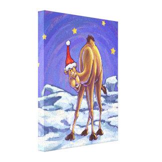 Camel Christmas Canvas Print