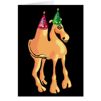 Camel Christmas card or invitation