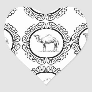 Camel Cluster Heart Sticker