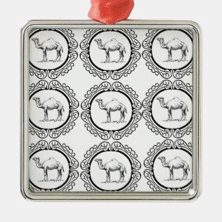Camel Cluster Metal Ornament