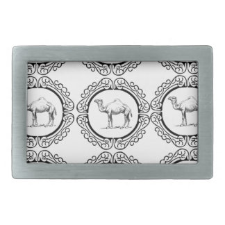 Camel Cluster Rectangular Belt Buckle