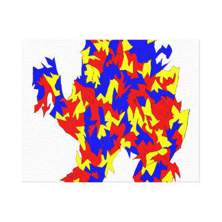Camel Creature Red Yellow Blue Abstract Design Canvas Print