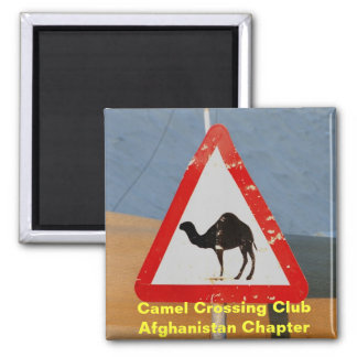 Camel Crossing Club Afghanistan Chapter Square Magnet