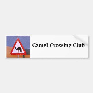 Camel Crossing Club Bumper Sticker