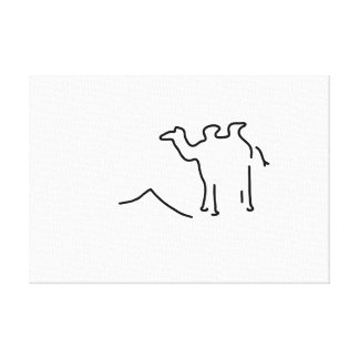camel dromedar wild Arabia Canvas Print