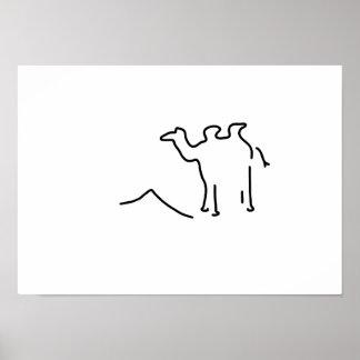 camel dromedar wild Arabia Poster