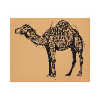 Camel Encrypted Canvas Print