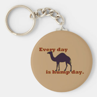 "Camel ""Every Day is Hump Day"" Keychain"
