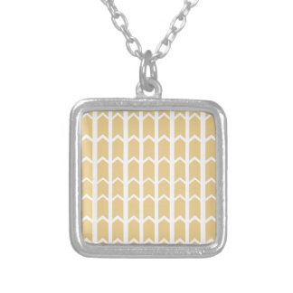 Camel Fence Panel Silver Plated Necklace