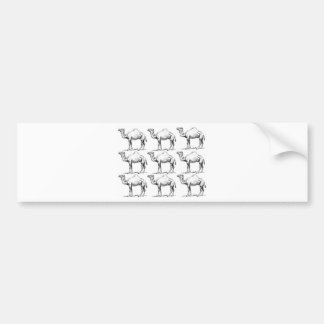 Camel herd art bumper sticker