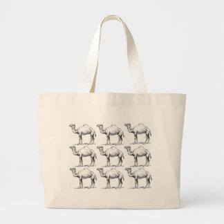 Camel herd art large tote bag