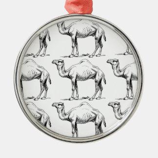 Camel herd art metal ornament