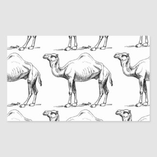 Camel herd art sticker