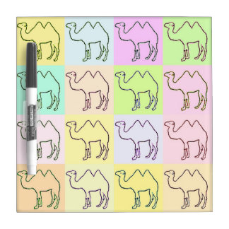 Camel Hieroglyphics Pop Art Small Dry Erase Board