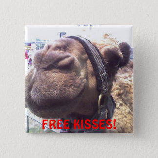 Camel Kisses 2 Inch Square Button