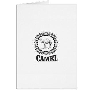 camel logo art card