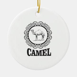 camel logo art ceramic ornament