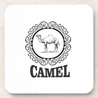 camel logo art coaster