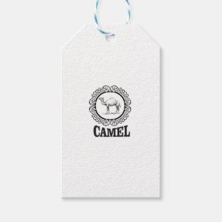 camel logo art gift tags