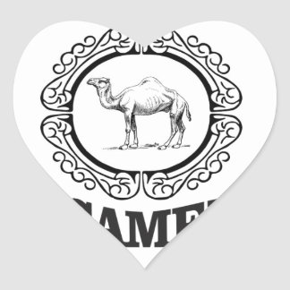 camel logo art heart sticker