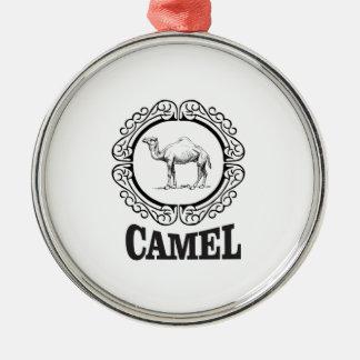 camel logo art metal ornament