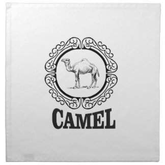 camel logo art napkin