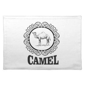camel logo art placemat
