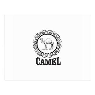 camel logo art postcard