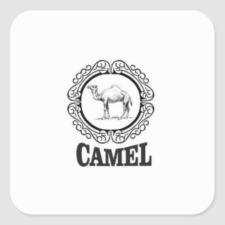 camel logo art square sticker