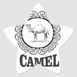 camel logo art star sticker