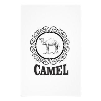 camel logo art stationery