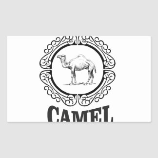 camel logo art sticker