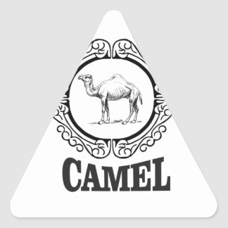 camel logo art triangle sticker