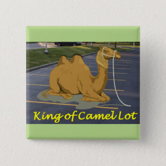 Camel Lot King 2 Inch Square Button