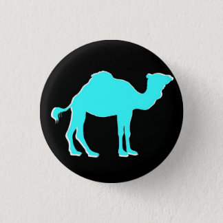 Camel Love: Hump Day Celebration Black & Teal 1 Inch Round Button