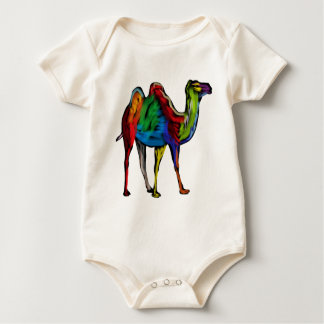 CAMEL OF COLORS BABY BODYSUIT