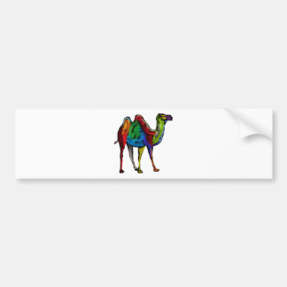 CAMEL OF COLORS BUMPER STICKER
