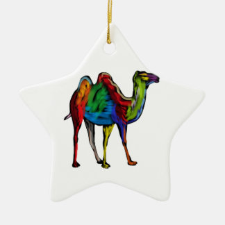 CAMEL OF COLORS CERAMIC ORNAMENT