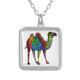 CAMEL OF COLORS SILVER PLATED NECKLACE