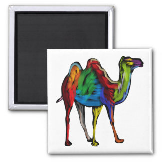 CAMEL OF COLORS SQUARE MAGNET