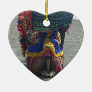 Camel on the toes.png ceramic heart ornament