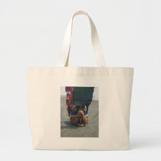 Camel on the toes.png large tote bag