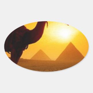 camel oval sticker